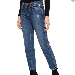 Free People Slim Boyfriend Denim Jeans